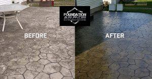 Wet Look Sealer on Stamped Concrete