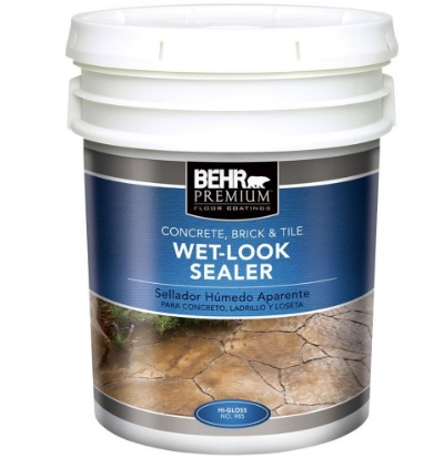 BEHR Wet Look Sealer Review Concrete Sealer Reviews - Behr wet look paver sealer